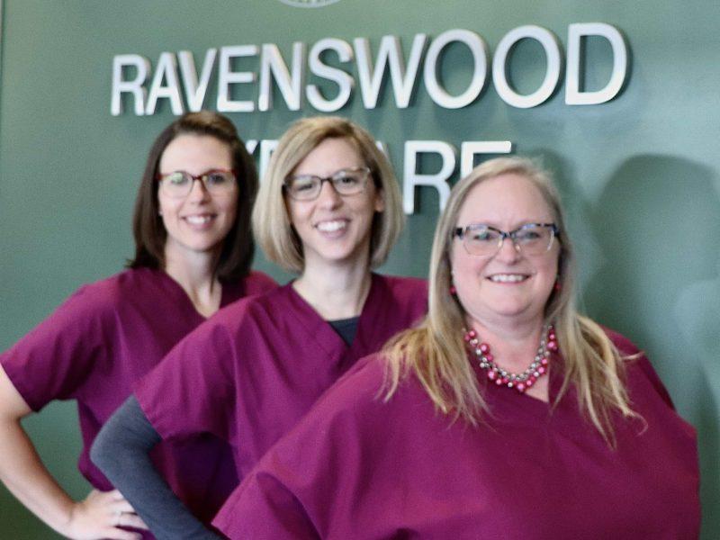 group of optometry team members